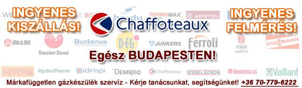 chaffoteaux gázkészülékek javítása, szervíze, karbantartása, cseréje
