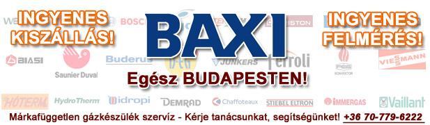 baxi gázkészülékek javítása, szervíze, karbantartása, cseréje