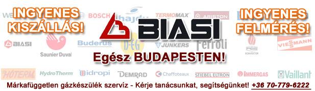 biasi gázkészülékek javítása, szervíze, karbantartása, cseréje