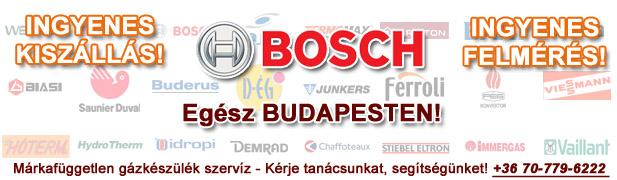 bosch gázkészülékek javítása, szervíze, karbantartása, cseréje